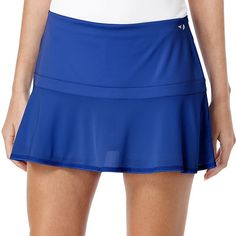 Women's Grand Slam Solid Flounce Tennis Skort, Size: