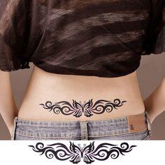 Women's Lady Flower Butterfly Temporary Tattoos Stickers Body Art Fashion or Halloween Zombie Scar Tattoos – tattoo Hawaiian Tribal Tattoos, Tribal Tattoos For Women, Back Tattoo Women, Tattoos For Women Small, Trendy Tattoos, Sexy Tattoos, Cute Tattoos, Body Art Tattoos, Girl Tattoos