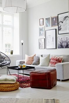 Found on Etc Inspiration Blog Art Filled Swedish Living Room