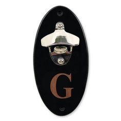 Cathy's Concepts Personalized Black Wall-Mounted Bottle Opener, Multicolor