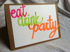 Eat Drink Party Card by repeteLove on Etsy, $4.00