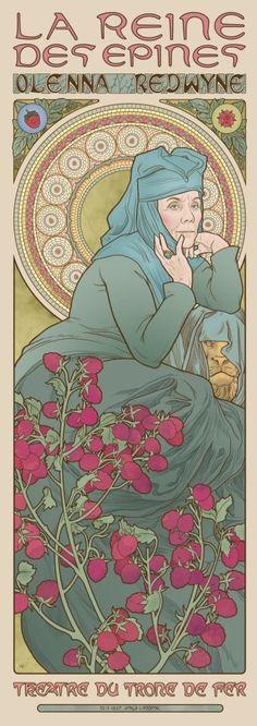 La valse des Monstres | Game of Thrones Heroines as Art Nouveau Paintings