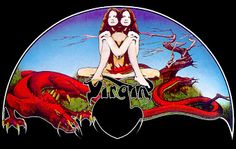 Virgin LP label  (Roger Dean)
