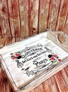 Today's reader feature is this Beautiful Shabby Chic Tray, submitted by our friend Poppy Kypraiou. In the past she has made this tray all white, but she decided to add a dry brush black color to give it a rustic look this time. After Poppyhand painted the entire piece, she transferred myPretty French Label, Paris...Read More »