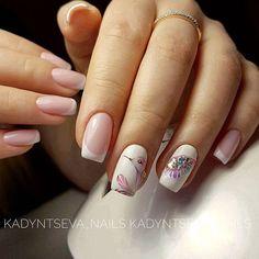 Красивые ногти. Уроки дизайна ногтей Manicure Set, Manicure And Pedicure, Nail Art Diy, Diy Nails, Lines On Nails, Elegant Nails, Nagel Gel, Flower Nails, Nail Tutorials