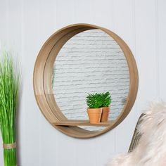 Add some modern, contemporary styling to your home with this large round wall mounted shelving unit. The mirrored back will showcase your ornaments and trinkets beautifully. Large round design with single internal shelf perfect for display purposes. Wall Mounted Shelving Unit, Wall Shelving Units, Mirror Unit, Wall Mirror With Shelf, Small Mirrors, Large Round Mirror, Industrial Wall Mirrors, Wall Unit, Mirror Wall