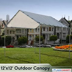 Outdoor Canopy 12x12 The 12x12 outdoor canopy is a great patio canopy. Our 12x12 canopy tent is available in silver and white. A outdoor canopy is great for flea market vendors or backyard fun. If you are looking for an economical and easy square shelter we suggest out 12x12 canopy. Outdoor Canopy 12x12 Features Heavy Duty Tarp Cover Full UV Protection Super Heat Resistant Waterproof and Weather Resistant Heavy Duty Ball Bungees No Tools Required - Easy Set-up Galvanized Steel Poles 1 3/8…
