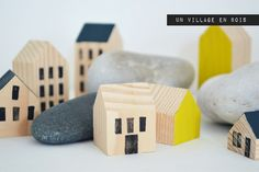Lily's Little Factory: Un Village En Bois [DIY]