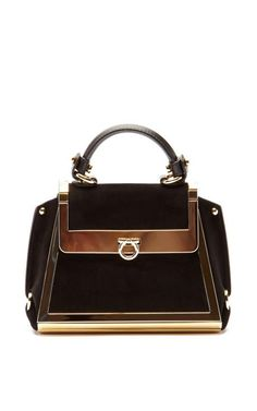 8fb48c649a Sofia Handbag by Salvatore Ferragamo Now Available on Moda Operandi Suede  Handbags