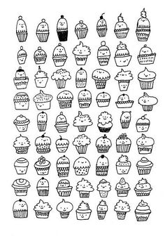 cupcakes black & white by gemma correll, via Flickr