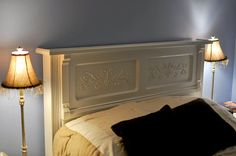 You would never realize this is a #repurposed piano.  The detail is beautiful, so the next time you see a piano being given away.....think headboard !!