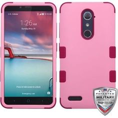 MYBAT TUFF Hybrid ZTE ZMAX PRO Case - Soft Pink/Rose