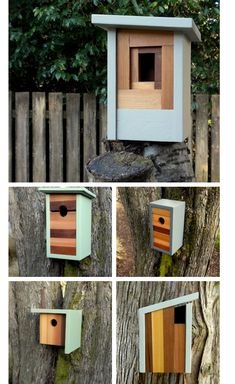 Modern Birdhouses        by Twig & Timber