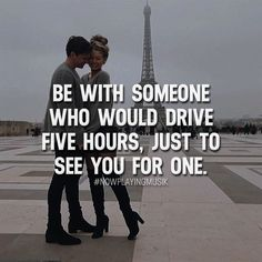 Be with someone who would drive five hours, just to see you for one. Like and comment if you feel like this! ➡️ @npmusik for more! #nowplayingmusik