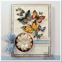 Card using 4 Seasons Stack. Details Post Link: http://www.mypapercrafting.com/2013/05/dcwv-4seasons-butterfly-card.html