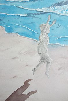 Boy on beach, via Flickr.