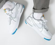 Air Force 1, Nike Air Force, Gold Style, White Light, Sneakers Nike, Smoke, Grey, Blue, Color
