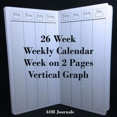 Midori Insert 26 Weekly Calendar WO2P Vertical for Midori or Fauxdori Travelers Notebook Covers. 9 Travelers Notebook Sizes 26 Cover Colors by AORJournals from AOR Journals by Ann. Find it now at http://ift.tt/2dzBwwq!
