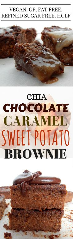 Chia Chocolate Caramel Sweet Potato Brownie