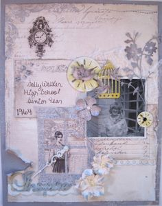 """Close up of Dawn Rene's layout using Pion Design Paper """"Alma's Sewing Room"""" that is available for purchase at scraptownlady.com"""