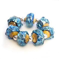 Angel Falls  Handcrafted Lampwork Glass Bead by BeadsbyClareScott, $46.31