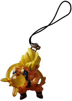 Dragon Ball Z Ripped Shirt Super Saiyan Goku Figure Phone Strap