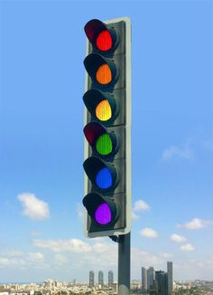 Rainbow traffic light