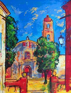 Original Acrylic Painting Of San Miguel De By MyMexicanArt On Etsy 9500