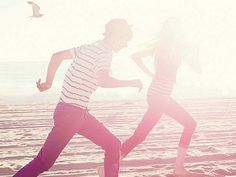 i want to run along the beach with you and play in the water <3