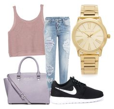 """nice"" by kiiit-thy on Polyvore featuring Michael Kors, MICHAEL Michael Kors, Dsquared2 and NIKE"