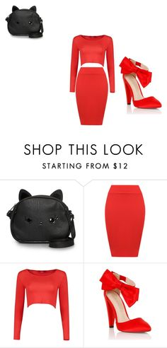 """""""red"""" by jseymore ❤ liked on Polyvore featuring Loungefly, WearAll and Lipsy"""