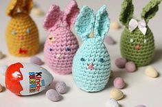 Ravelry: Huggie Bunnies (Crochet) pattern by Sandra Paul