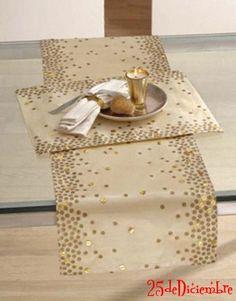 Desde los más sencillos hasta los más elaborados, loc caminos de mesa expresan infinidades de gustos a la hora de decorar una mesa... son como un toque de