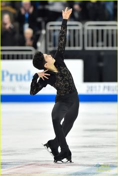Nathan Chen skates his routine that would earn him first place in the short routine championship on Day 2 at the 2017 US Figure Skating Championships on January 2017 at the Sprint Center in. Get premium, high resolution news photos at Getty Images Male Figure Skaters, Us Figure Skating, Figure Skating Olympics, Mens Figure Skates, Figure Skating Dresses, Olympic Ice Skating, Male Pose Reference, Nathan Chen, 2018 Winter Olympics