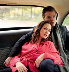 Matt Damon and Emily Blunt