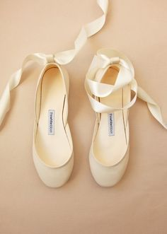 The Bridal Ballet Flats Wedding Shoes with Satin Ribbons Ivory Leather Bridal Flats Vanilla Ivory Ready to Ship # Leather Ballet Flats, Ballet Shoes, Dance Shoes, Bridal Flats, Wedding Shoes, Bridal Jewelry, Minimal Fashion, Ankle Straps, Your Shoes