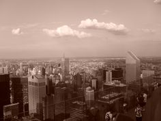 """The amazing view from the """"top of the rock""""."""