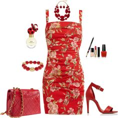 Dolce & Gabbana Summer Red Outfit created by tsteele