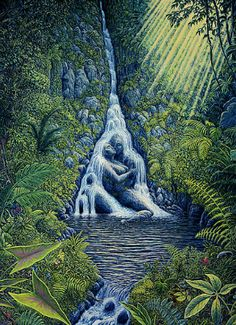 Psychedelic Art Ravine Rapture custom print from the original painting by Mark Henson Using Blinds F Illusion Paintings, Art Paintings, Original Paintings, Image Illusion, Illusion Art, Flame Art, Visionary Art, Psychedelic Art, Surreal Art