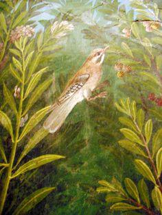 A detail of a fresco from Pompeii Ancient Rome, Ancient Art, Ancient History, Art History, Pompeii And Herculaneum, Roman Art, Greek Art, Leaf Art, Antique Art