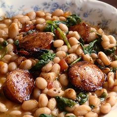 White Beans with Spinach & Sausage...sub Kale for spinach