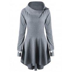 Raglan Sleeve Lace Up Mini Swing Dress