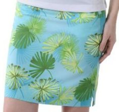 Tropical Leaf Print Skort