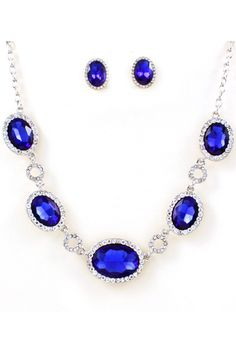 https://www.bkgjewelry.com/sapphire-ring/384-18k-yellow-gold-diamond-blue-sapphire-solitaire-ring.html Elana Crystal Necklace in Sapphire on Emma Stine Limited