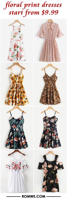 floral print dresses from $9.99