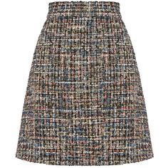 Warehouse Tweed Skirt ($58) ❤ liked on Polyvore featuring skirts, women, knee length skirts, multi color skirt, knee length a line skirt, multicolor skirt and a line skirt