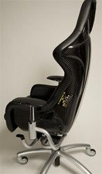 CALL NOW! (727)-827-8268 Not A CHEAP COPY, This is the REAL THING! This carbon fiber shell seat was made for the Ferrari Challenge car by OMP. It was a very rare option to be ordered in leather since
