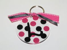"""needs May 10 4 frames @ ea = details: ONE blue polka dot with blue bow that says """"Ring Bearer""""; THREE hot pink polka dot with bow that say """"Flower Girl"""". Salt Dough, Blue Bow, Blue Polka Dots, Clay Art, Clear Acrylic, Hot Pink, Cricut, Personalized Items, Christmas Ornaments"""