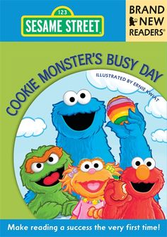 #commoncore Cookie Monster's Busy Day: What is Cookie Monster's favorite color to eat? How many ways can Cookie, Elmo, Abby, Big Bird, and pals move along in a parade? From washing up to making his bed, Cookie's day is as full as his belly! PB 9780763657772 Ages 4-6 #Bobbooks