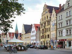 Theresienstrasse/Theresien Street, old town Ingolstadt, Bavaria, Germany